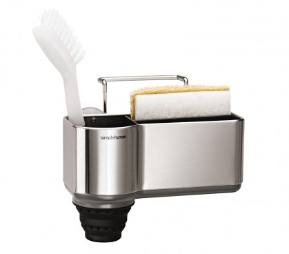 sink caddy, brushed stainless steel