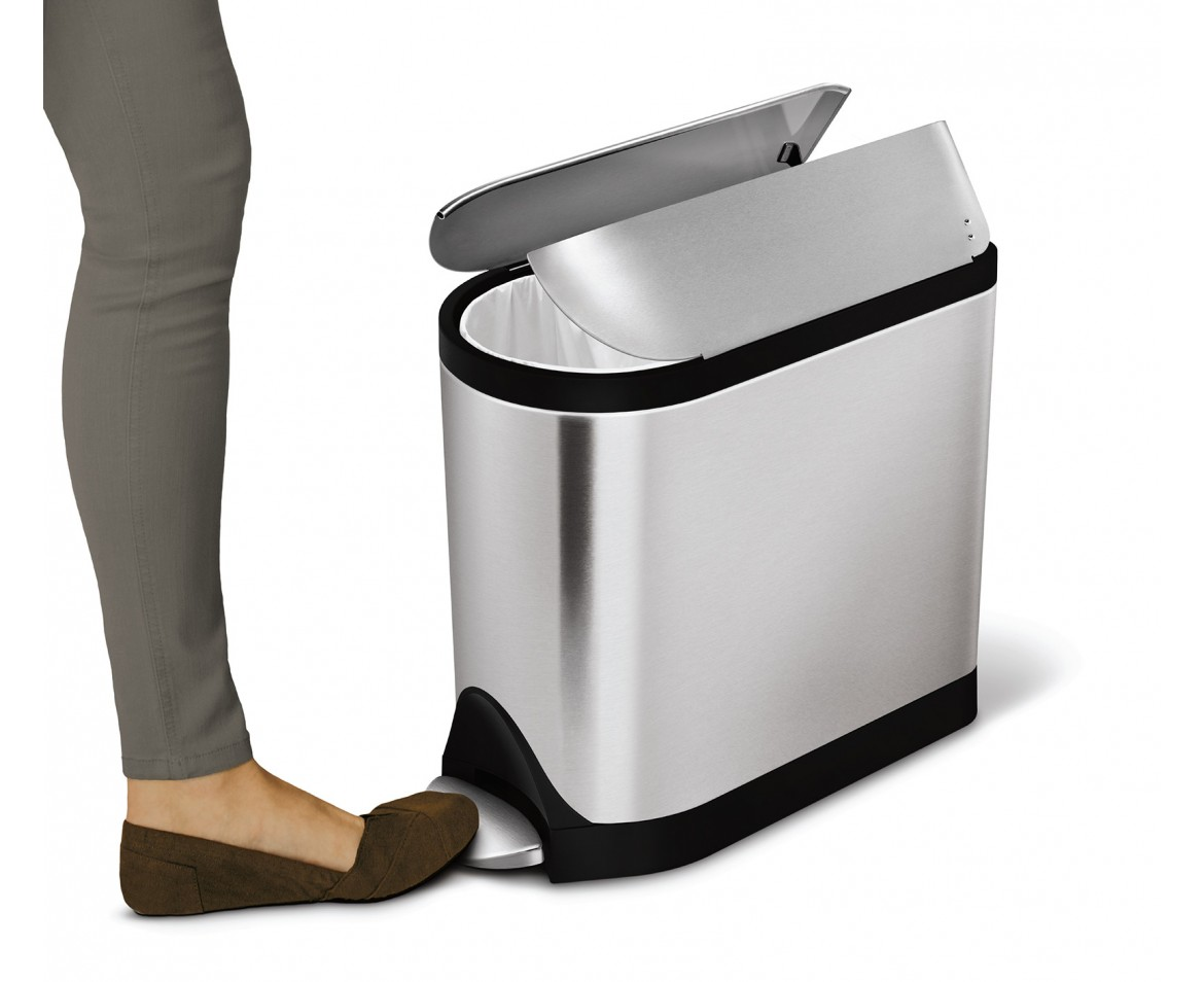 Simplehuman 10l Stainless Steel Butterfly Step Trash Can