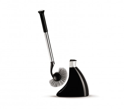 slim toilet brush black - retina