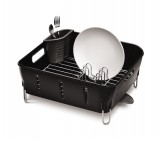 compact dishrack, black