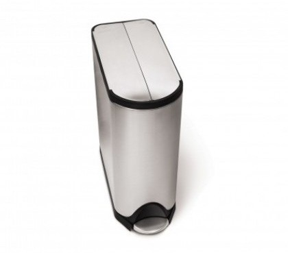 45 litre, butterfly step can, fingerprint-proof brushed stainless steel